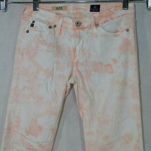 Adriana Goldshmeid Tie Dye Stilt Jeans Raw Hem